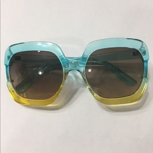 Ombré Square Oversized  Sunglasses